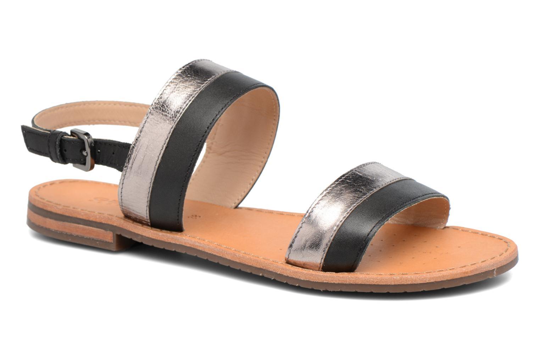 Sandaler Geox D SOZY F D722CF Sort detaljeret billede af skoene