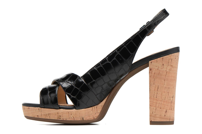 Sandali e scarpe aperte Geox D MAUVELLE C D724LC Nero immagine frontale