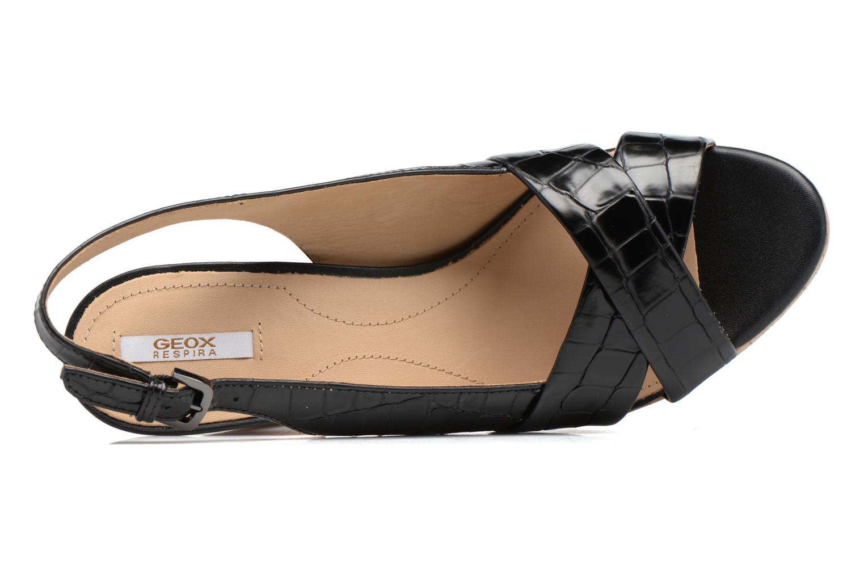 Sandali e scarpe aperte Geox D MAUVELLE C D724LC Nero immagine sinistra