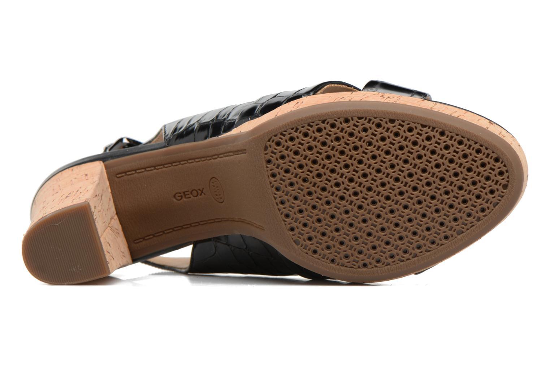 Sandali e scarpe aperte Geox D MAUVELLE C D724LC Nero immagine dall'alto