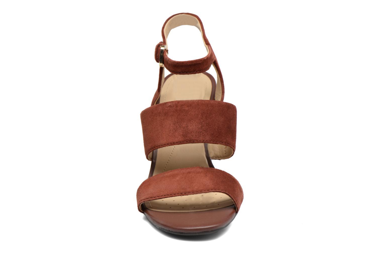 Sandales et nu-pieds Geox D AUDALIES H.SAN. A D724WA Marron vue portées chaussures