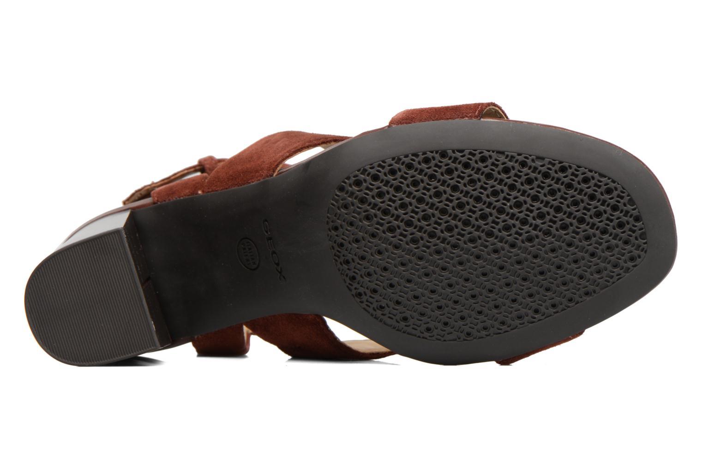 Sandales et nu-pieds Geox D AUDALIES H.SAN. A D724WA Marron vue haut