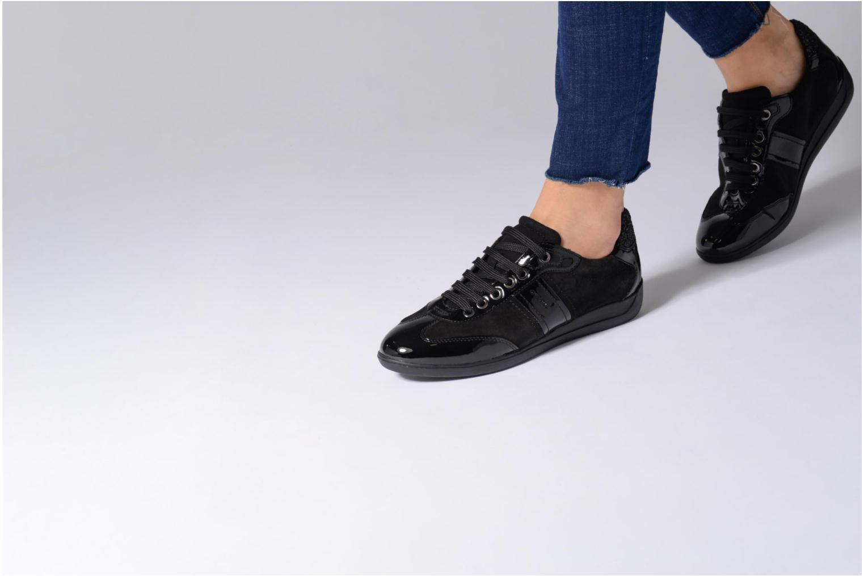 Sneaker Geox D MYRIA A D7268A schwarz ansicht von unten / tasche getragen