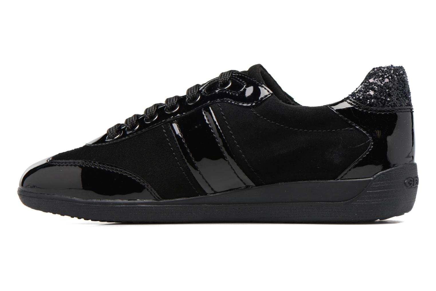 Trainers Geox D MYRIA A D7268A Black front view