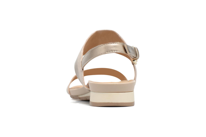 Sandales et nu-pieds Geox D FORMOSA C D7293C Or et bronze vue droite