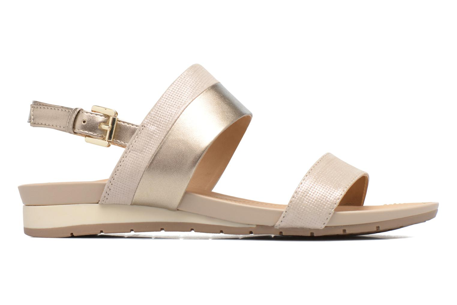 Sandals Geox D FORMOSA C D7293C Bronze and Gold back view