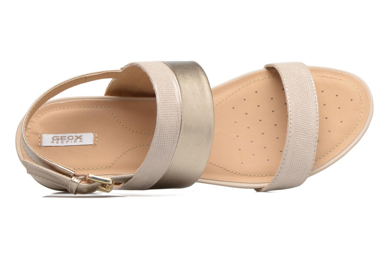 Sandales et nu-pieds Geox D FORMOSA C D7293C Or et bronze vue gauche