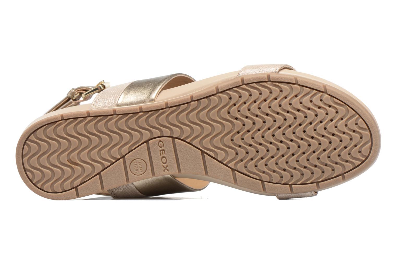 Sandales et nu-pieds Geox D FORMOSA C D7293C Or et bronze vue haut