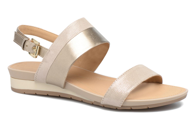 Sandales et nu-pieds Geox D FORMOSA C D7293C Or et bronze vue détail/paire