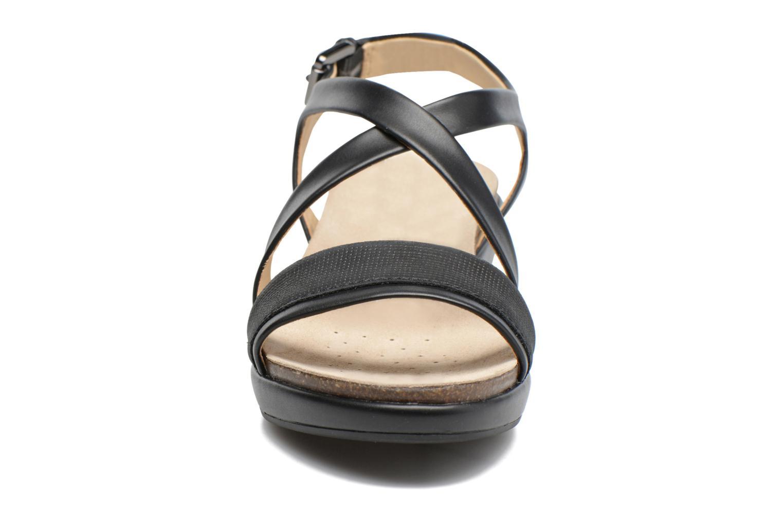 Sandales et nu-pieds Geox D ABBIE A D72P6A Noir vue portées chaussures