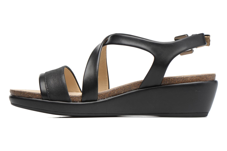 Sandales et nu-pieds Geox D ABBIE A D72P6A Noir vue face