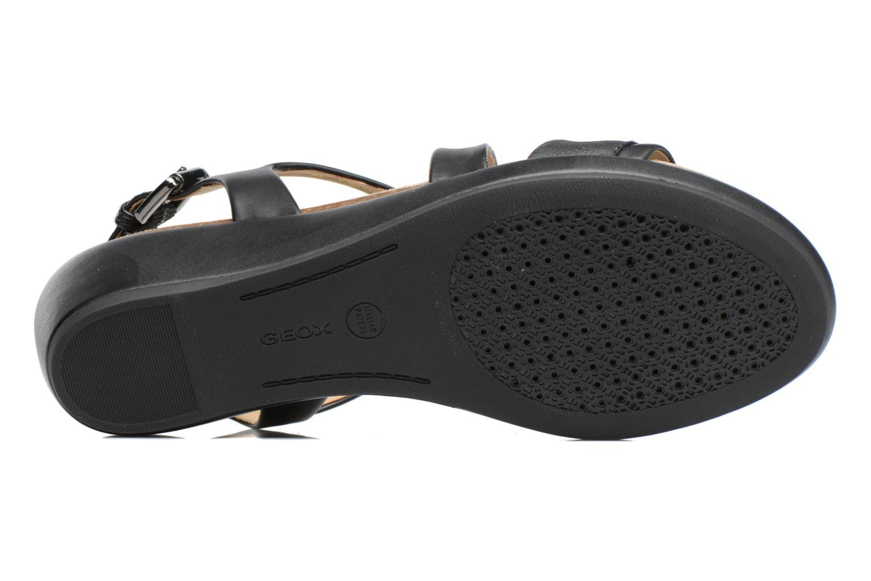 Sandales et nu-pieds Geox D ABBIE A D72P6A Noir vue haut
