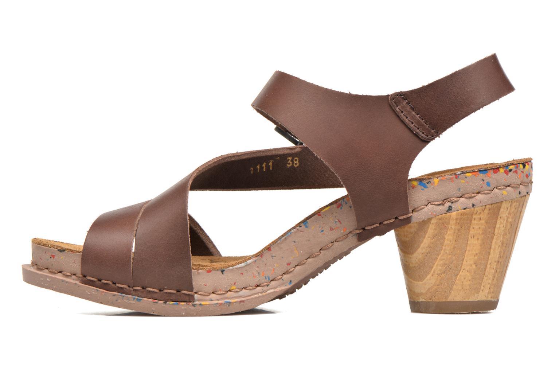 Sandales et nu-pieds Art I Laugh 1111 Marron vue face