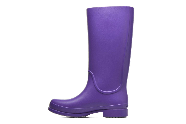 Bottes Crocs Wellie Rain Boots F Violet vue face