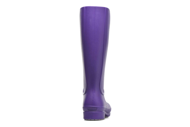 Bottes Crocs Wellie Rain Boots F Violet vue droite