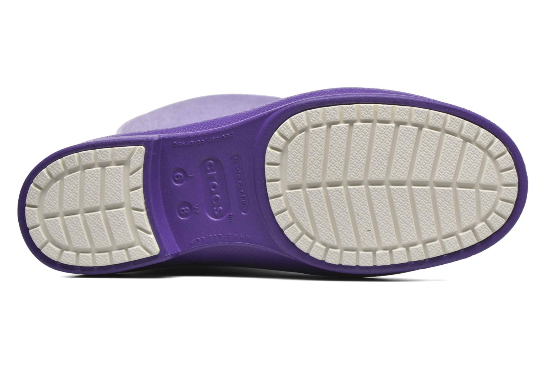 Bottes Crocs Wellie Rain Boots F Violet vue haut