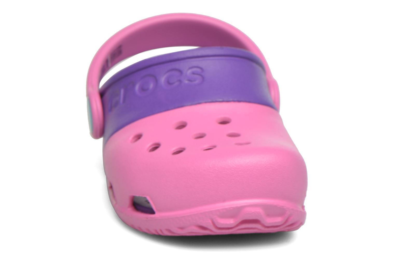 Sandales et nu-pieds Crocs Electro II Clog Rose vue portées chaussures