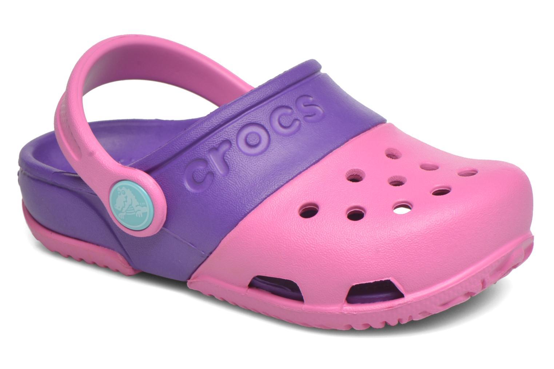 Sandales et nu-pieds Crocs Electro II Clog Rose vue détail/paire