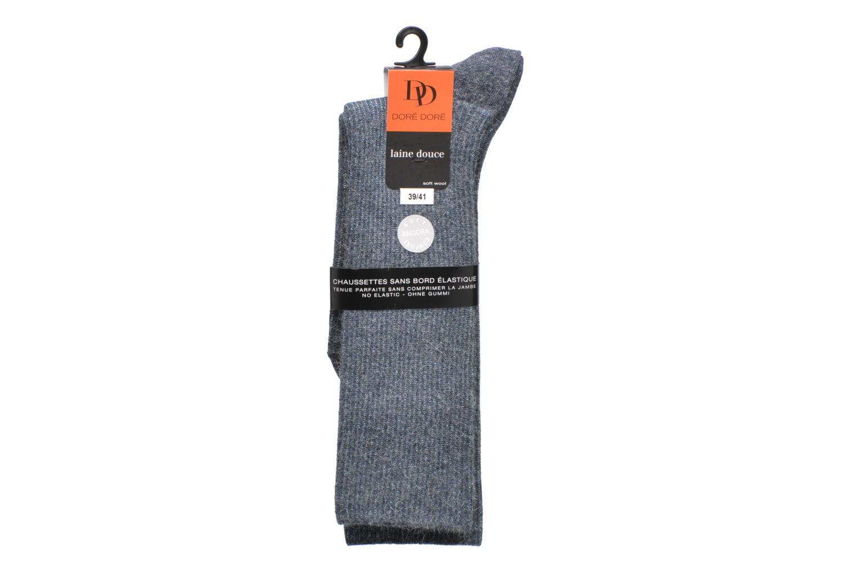 Chaussettes Femme Soft Angora Cote Lurex sans compression 10489 INDIGO