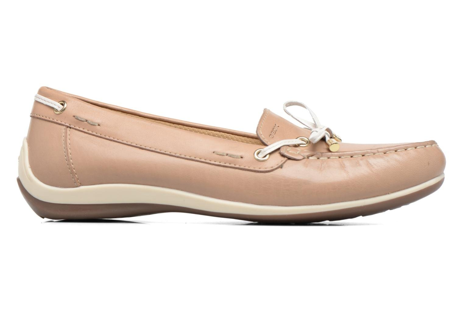 Loafers Geox D YUKI A D6455A Beige back view