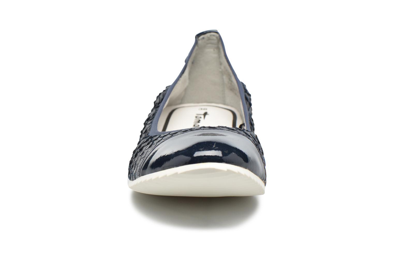 Ballerines Tamaris Ancolie Bleu vue portées chaussures