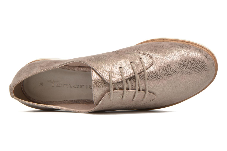 Chaussures à lacets Tamaris Lotie Beige vue gauche