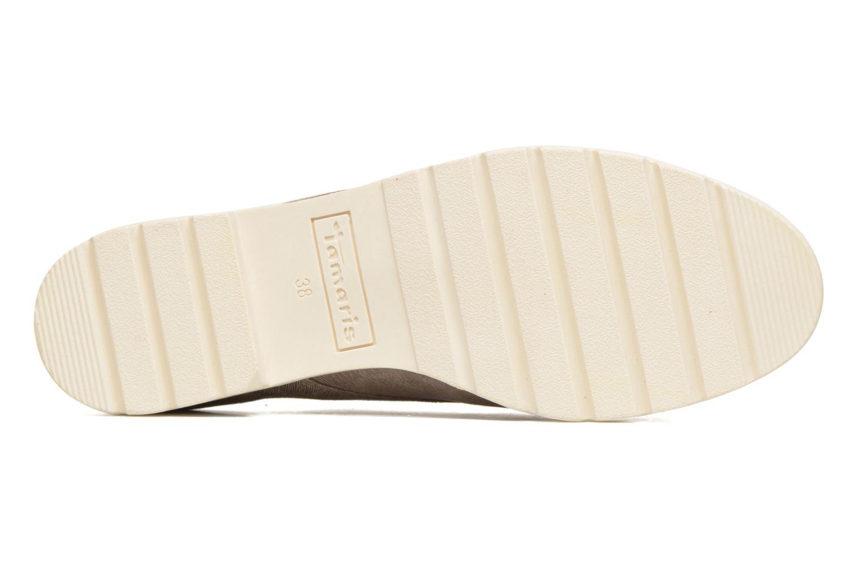 Chaussures à lacets Tamaris Lotie Beige vue haut