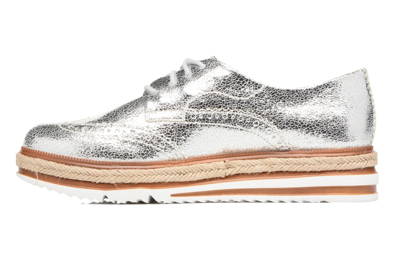 Lace-up shoes Tamaris Pensée Silver front view