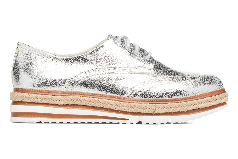 Lace-up shoes Tamaris Pensée Silver back view