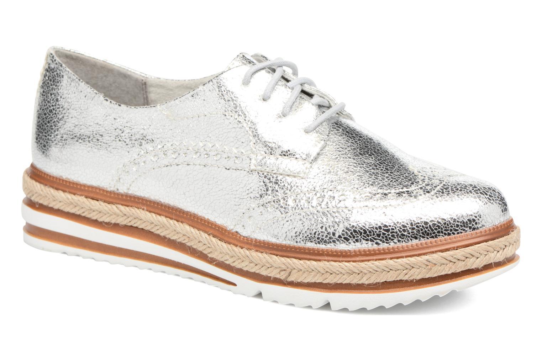Lace-up shoes Tamaris Pensée Silver detailed view/ Pair view