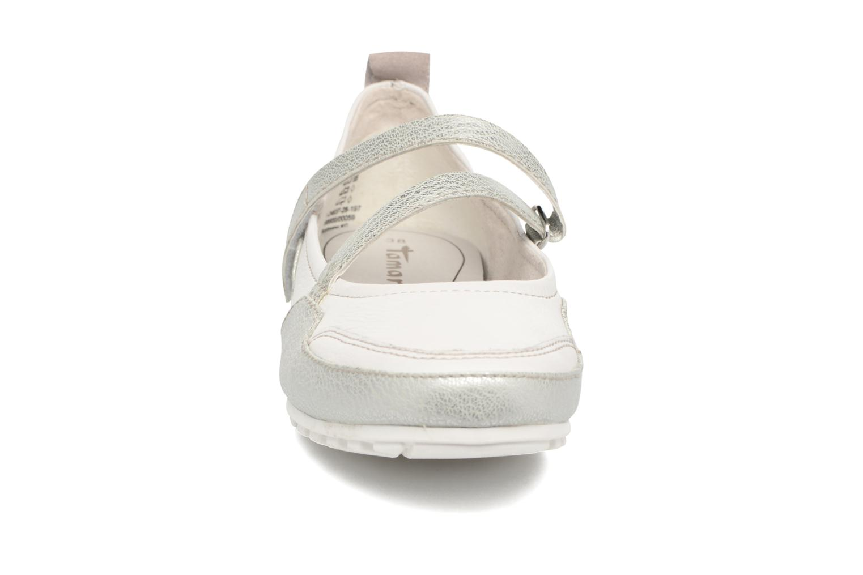 Ballerines Tamaris Calla Blanc vue portées chaussures