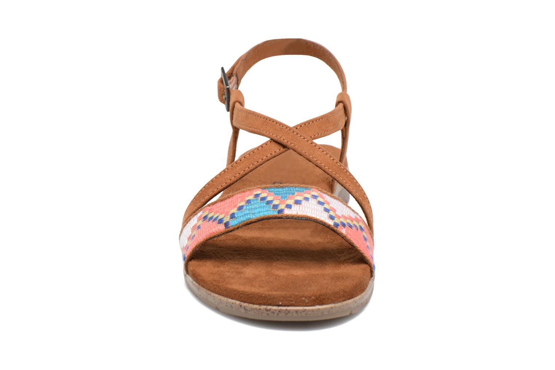 Sandales et nu-pieds Tamaris Mélisse Marron vue portées chaussures