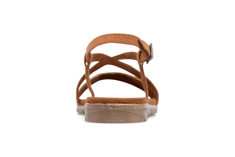 Sandales et nu-pieds Tamaris Mélisse Marron vue droite