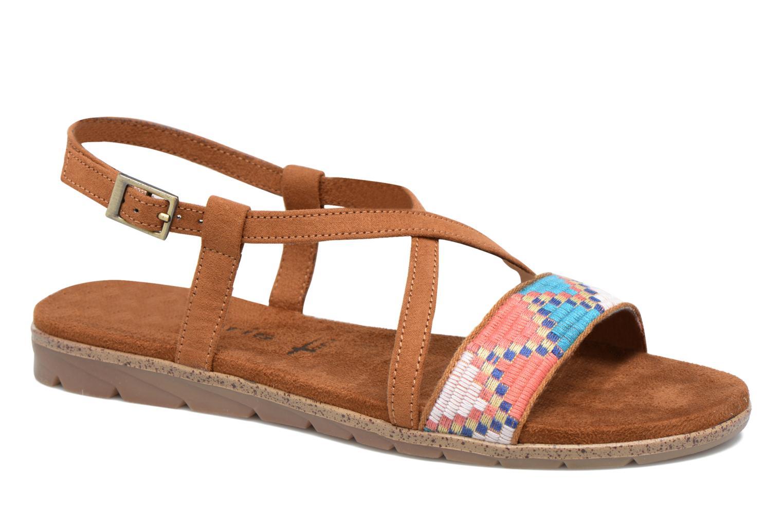 Sandales et nu-pieds Tamaris Mélisse Marron vue détail/paire