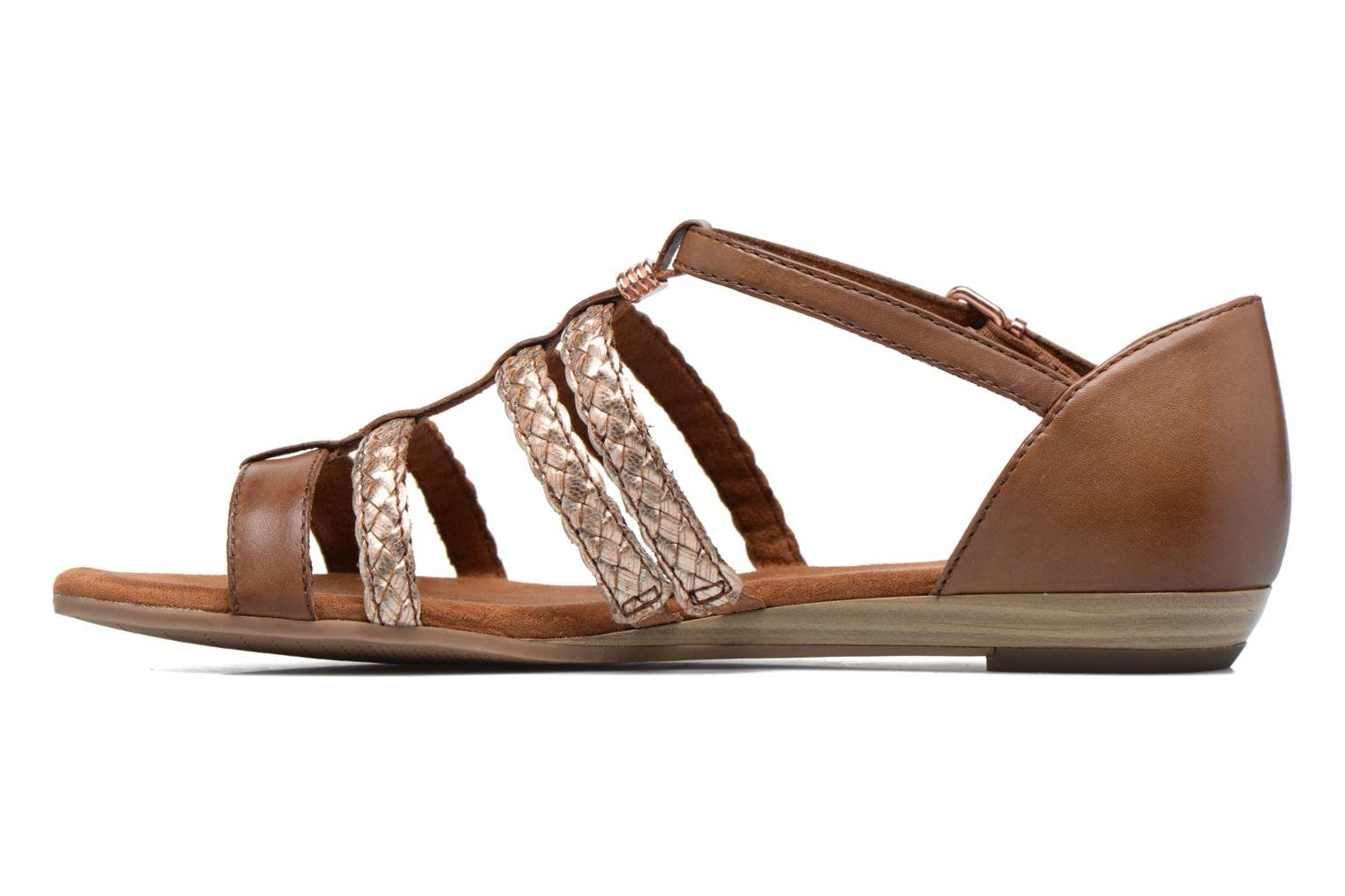 Sandals Tamaris Muscari Brown front view