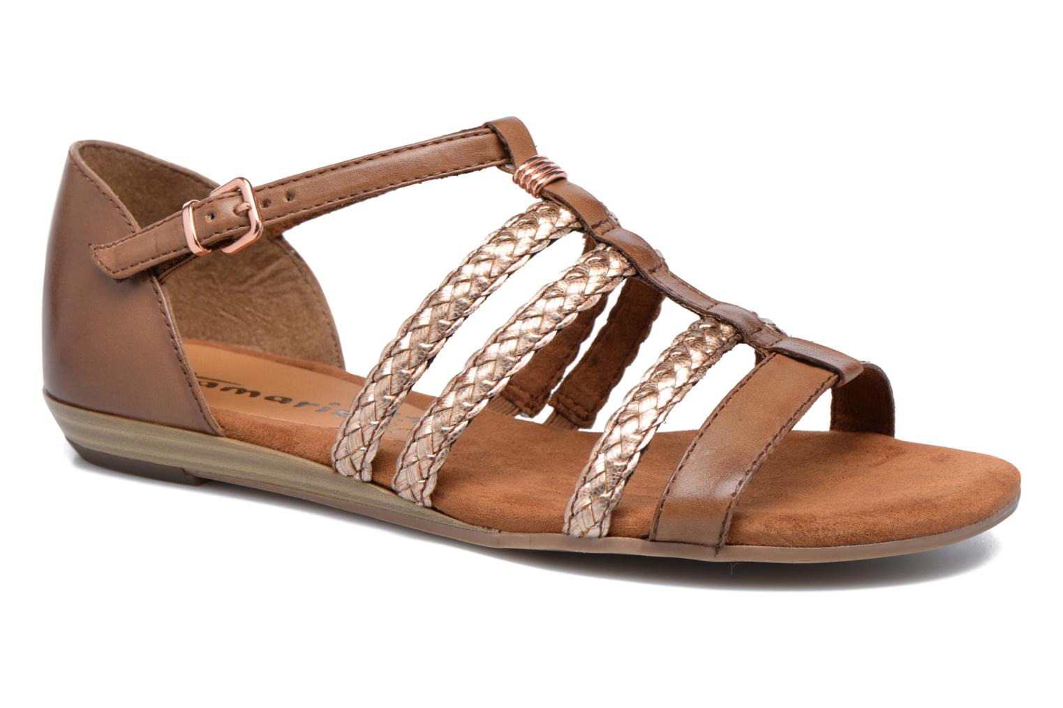 Sandals Tamaris Muscari Brown detailed view/ Pair view