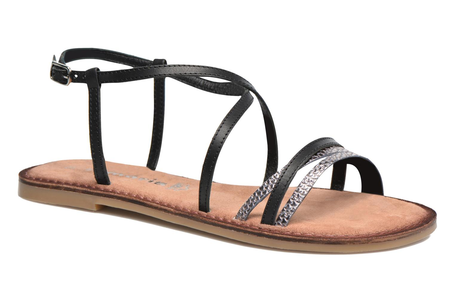 Sandals Tamaris Cabaret Black detailed view/ Pair view