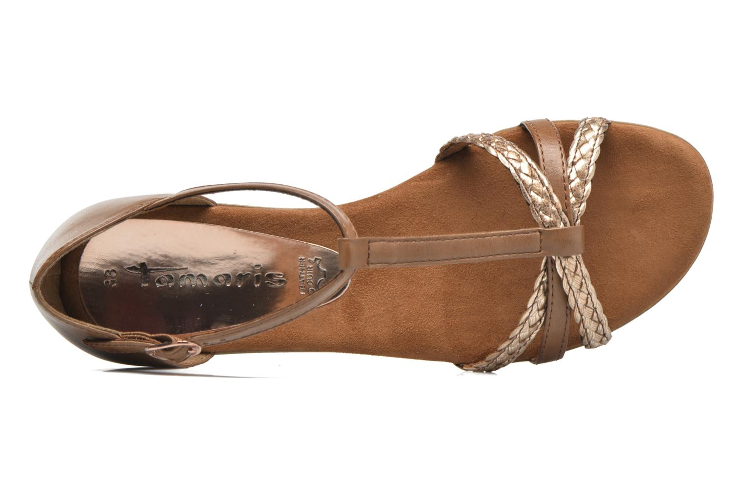 Sandals Tamaris Carthame Brown view from the left
