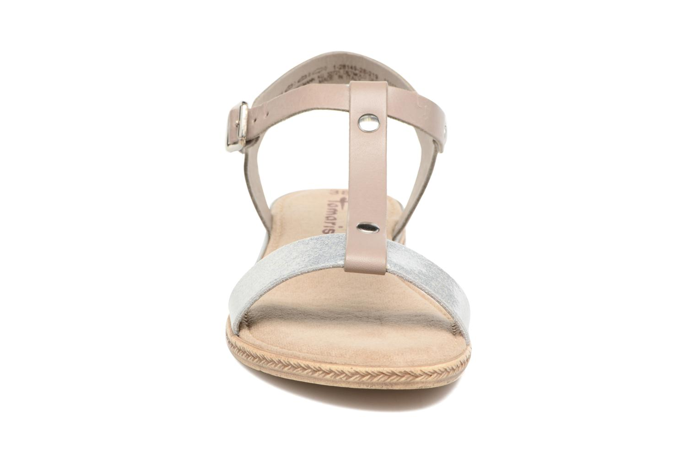 Sandalen Tamaris Silène grau schuhe getragen