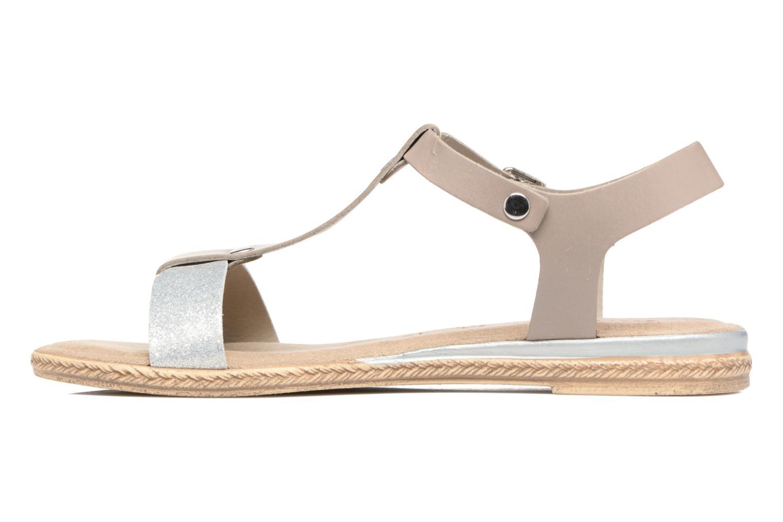 Sandales et nu-pieds Tamaris Silène Gris vue face
