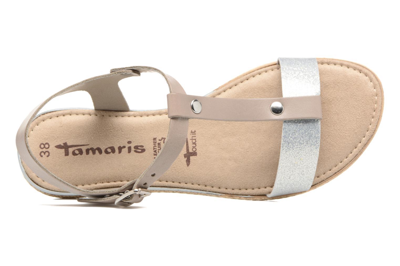 Sandales et nu-pieds Tamaris Silène Gris vue gauche