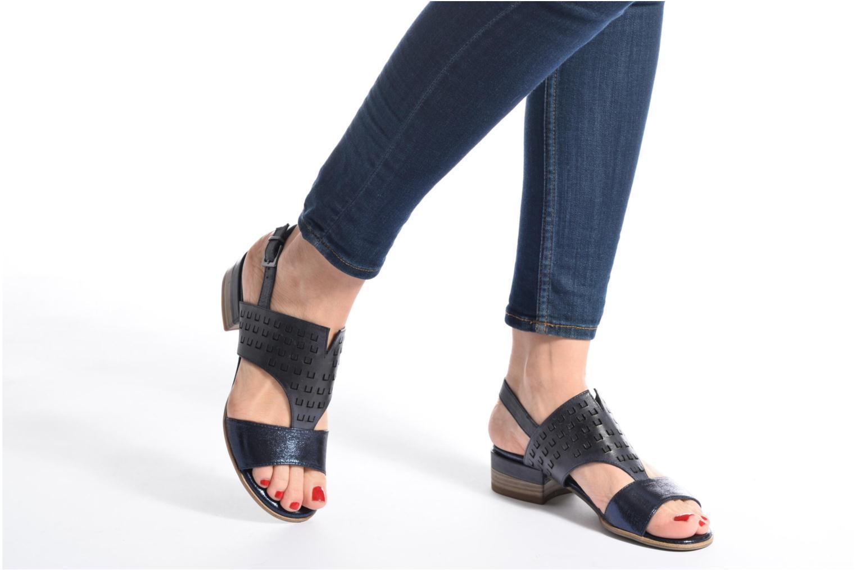 Sandales et nu-pieds Tamaris Solidage Bleu vue bas / vue portée sac