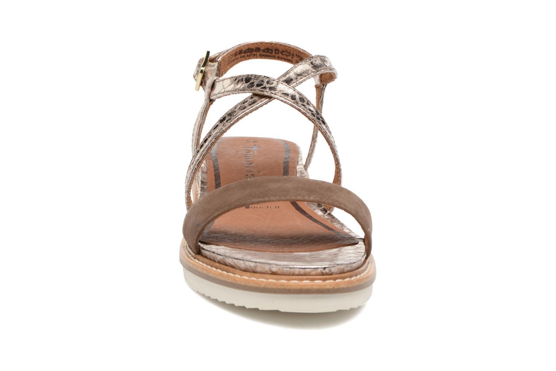 Sandalen Tamaris Stellaire braun schuhe getragen