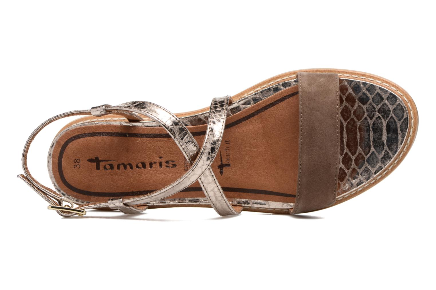 Sandals Tamaris Stellaire Brown view from the left