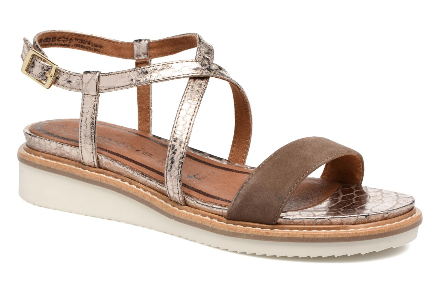Sandals Tamaris Stellaire Brown detailed view/ Pair view