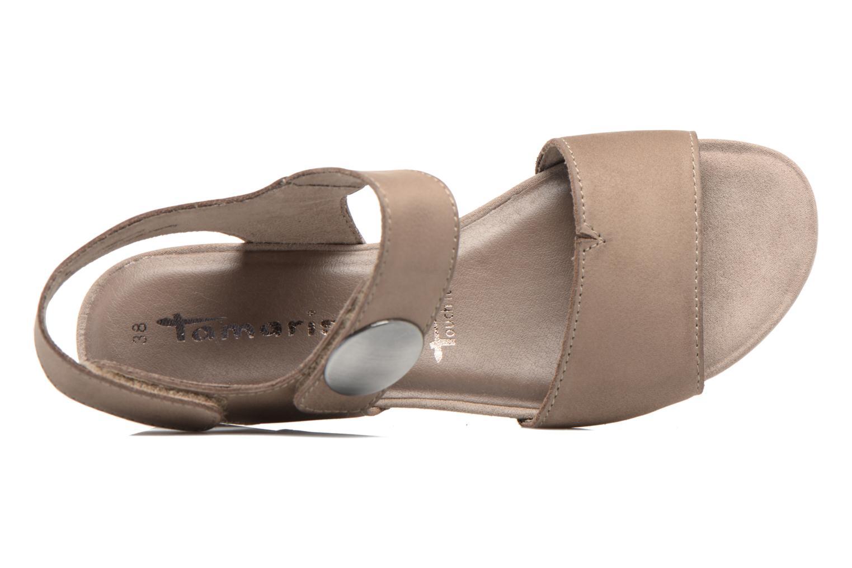 Sandales et nu-pieds Tamaris Tulia Beige vue gauche