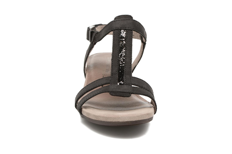 Sandales et nu-pieds Tamaris Potentille Noir vue portées chaussures