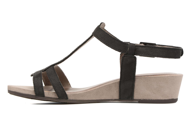 Sandales et nu-pieds Tamaris Potentille Noir vue face