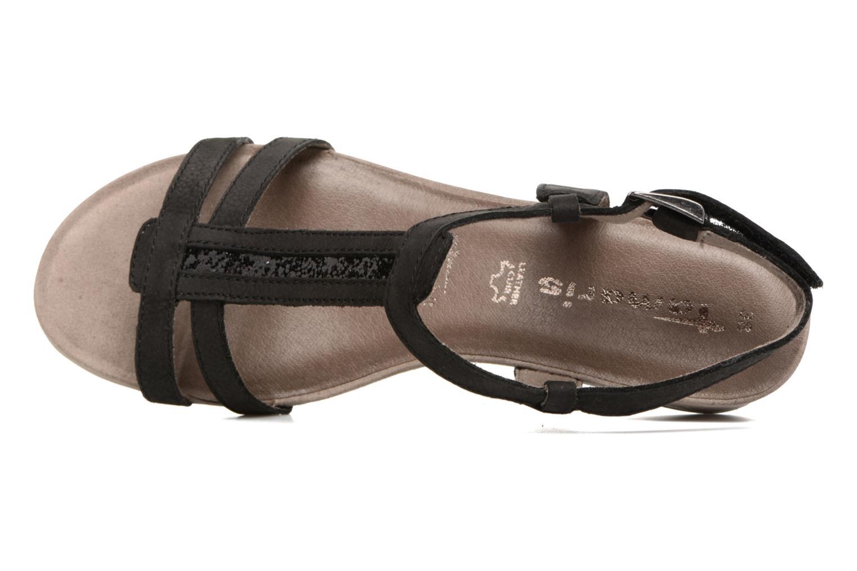 Sandales et nu-pieds Tamaris Potentille Noir vue gauche