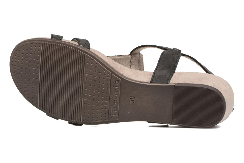 Sandales et nu-pieds Tamaris Potentille Noir vue haut